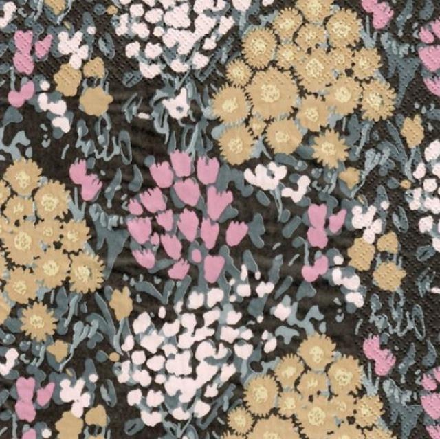 北欧【HAVI'S】バラ売り1枚 ランチサイズ ペーパーナプキン Asteri ブラック