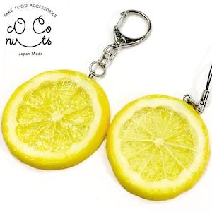 レモン 食品サンプル キーホルダー ストラップ
