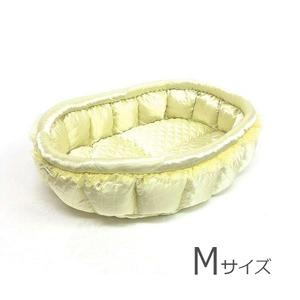 ふーじこちゃんママ手作り ぽんぽんベッド (サテンレモン)Mサイズ【PB17-058M】