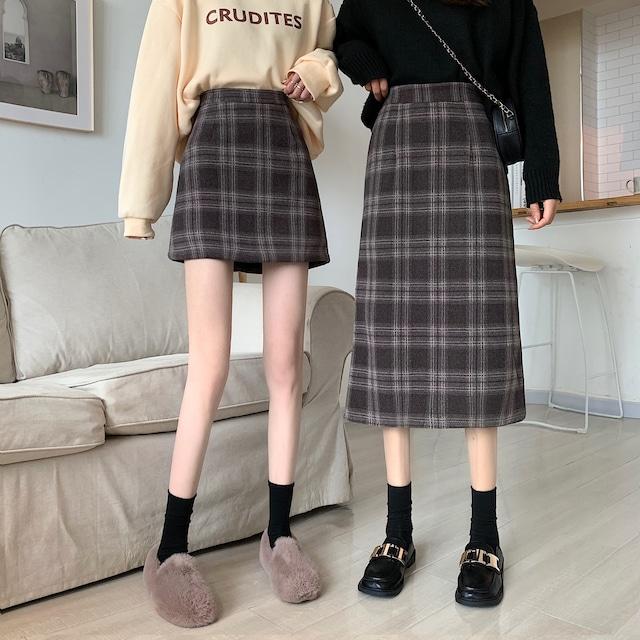 チェック柄スカート ロングスカート ミニスカート SHD582703