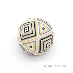 手まり制作キット「枡かがり」(テキストあり)_KIT003-1