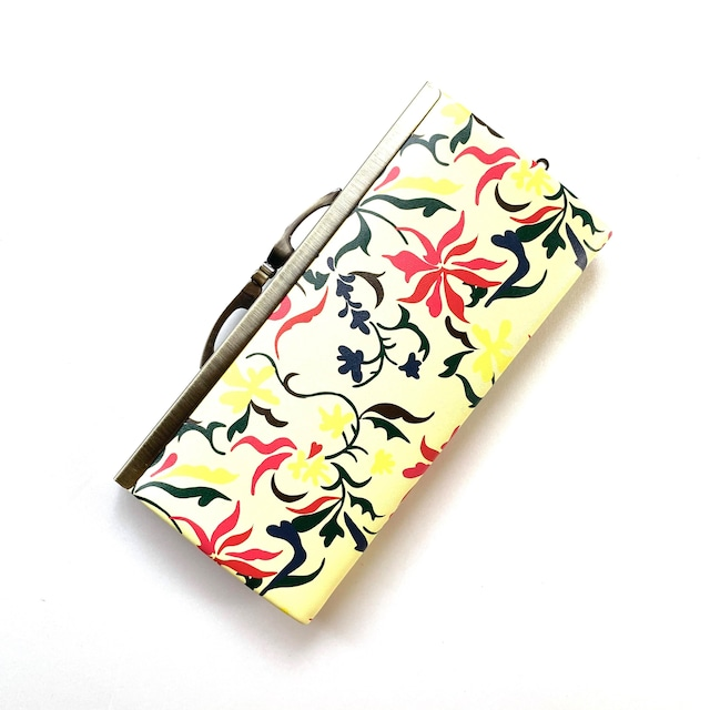 【SALE】【秀和 x pink india】北欧デザイン 牛革がま口復刻長財布 | feather bajue