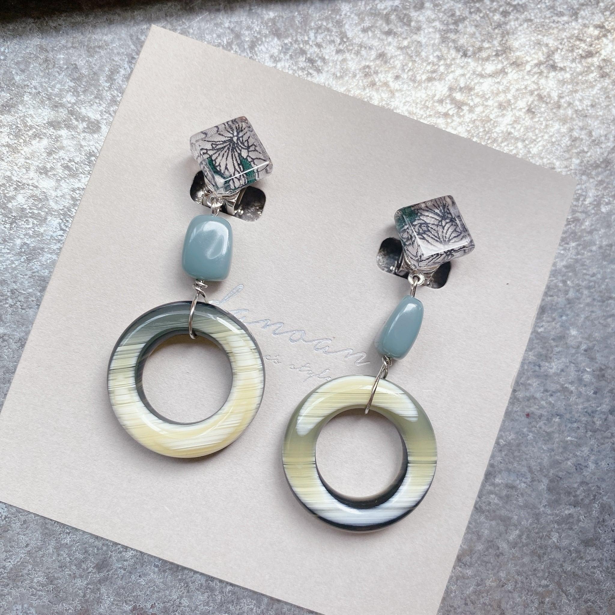 """ Earrings NO.danoan-106″ リバティとイタリアビーズ"