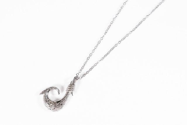 【316L Hawaiian fish hook necklace】/ SILVER