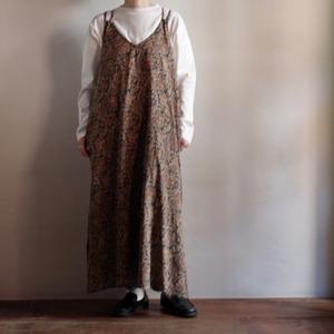 Select Item / Batik pattern Back Ribbon Dress # charcoal / バティック柄 バックリボン キャミ ドレス