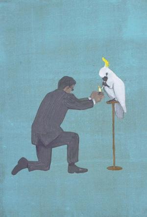 ポストカード『偉い鳥』
