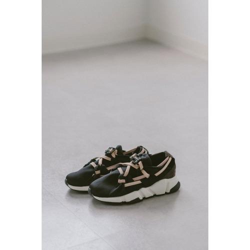 【RehersalL】suede belt sneakers(pink) /【リハーズオール】スエードベルトスニーカー(ピンク)