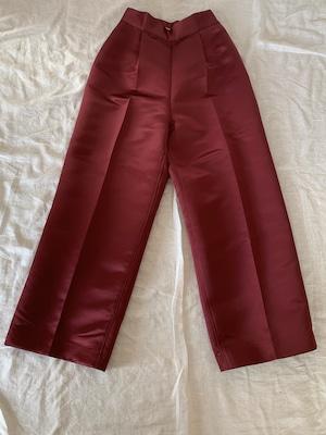 Tucked pants / Burgundy