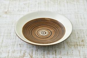 六寸皿  (茶呉須)