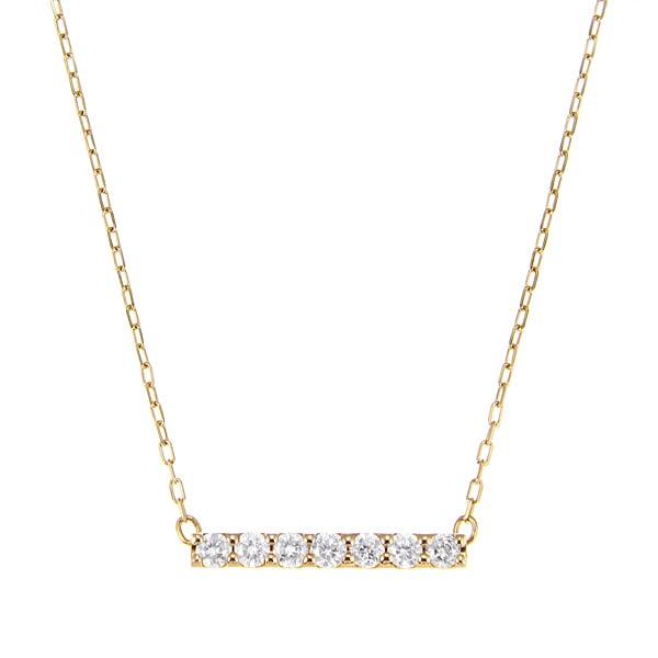 K10YGダイヤモンドネックレス 020201009190