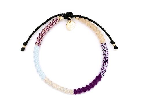Check Patterned Bracelet / Bohemian[チェック柄ミサンガブレスレット]