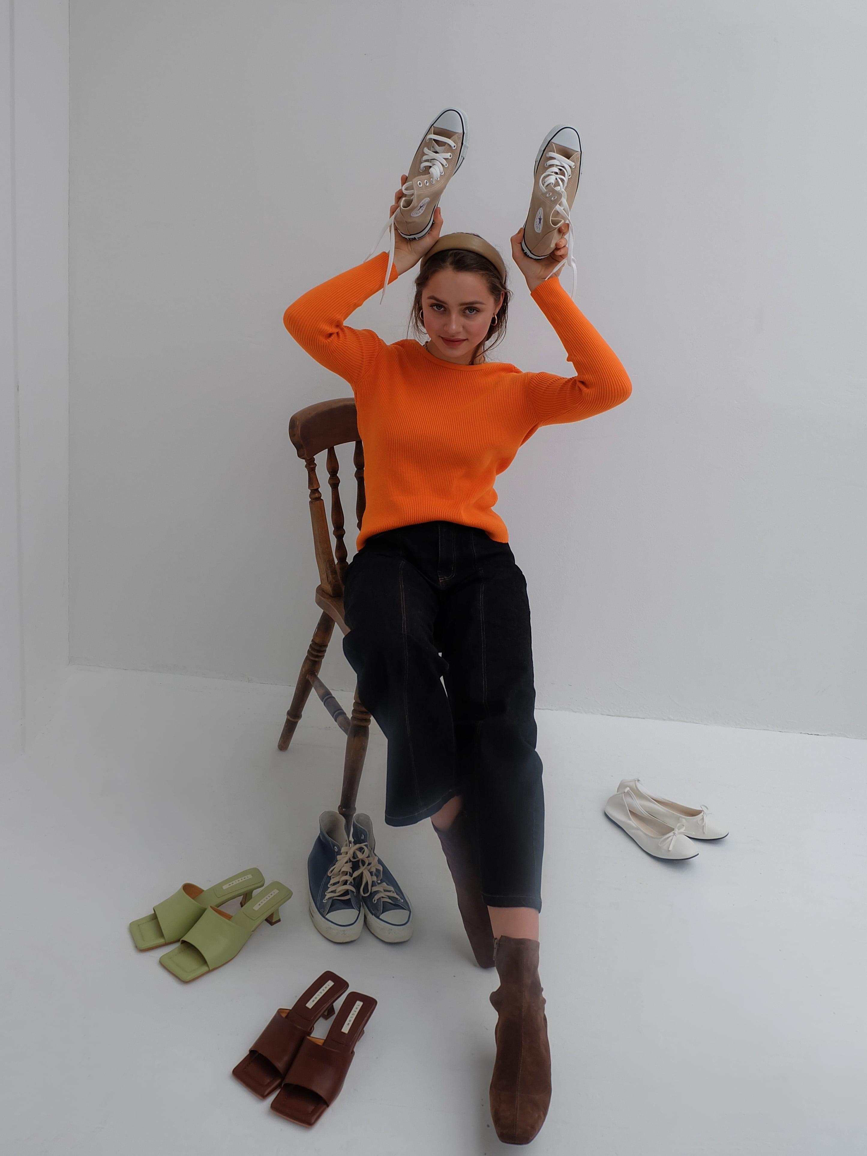 2way rib knit(orange)