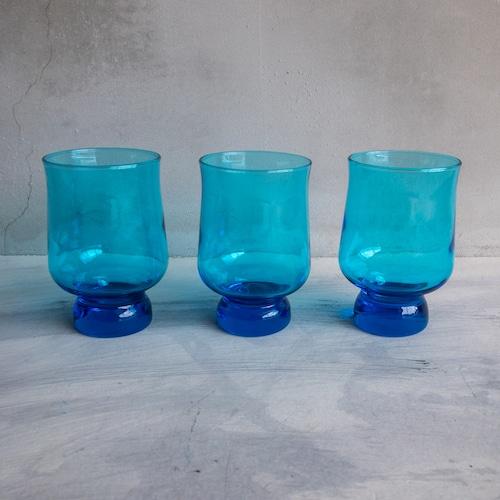 青いラムネグラス三兄弟