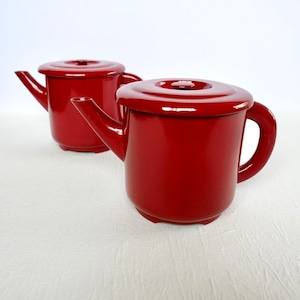 【30309-A】輪島塗湯とう 赤 (蓋ツマミ有) 明治 1個/ Wajima Nuri  Water Pot / Meiji Era