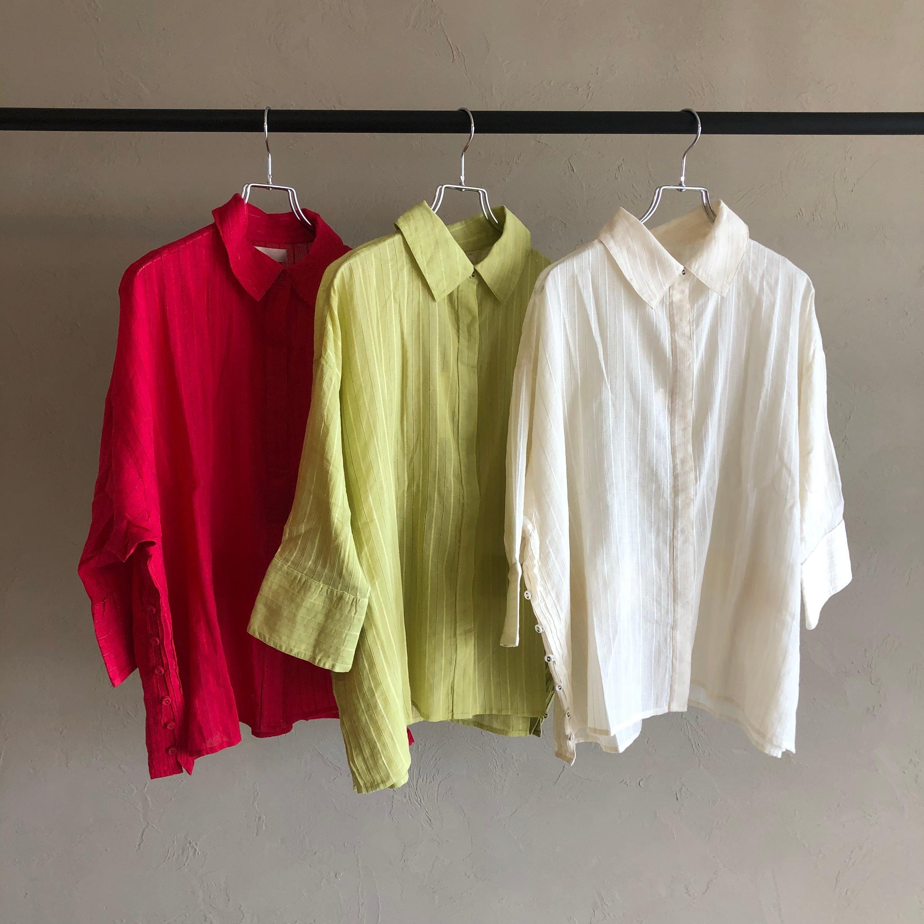 【 valance select 】- 74146-BR - ストライプ刺繍シャツ