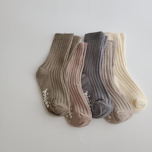 【即納】crescent rib socks / 5pcs set〔クレッセンドリブソックス / 5足セット〕 rainbow socks
