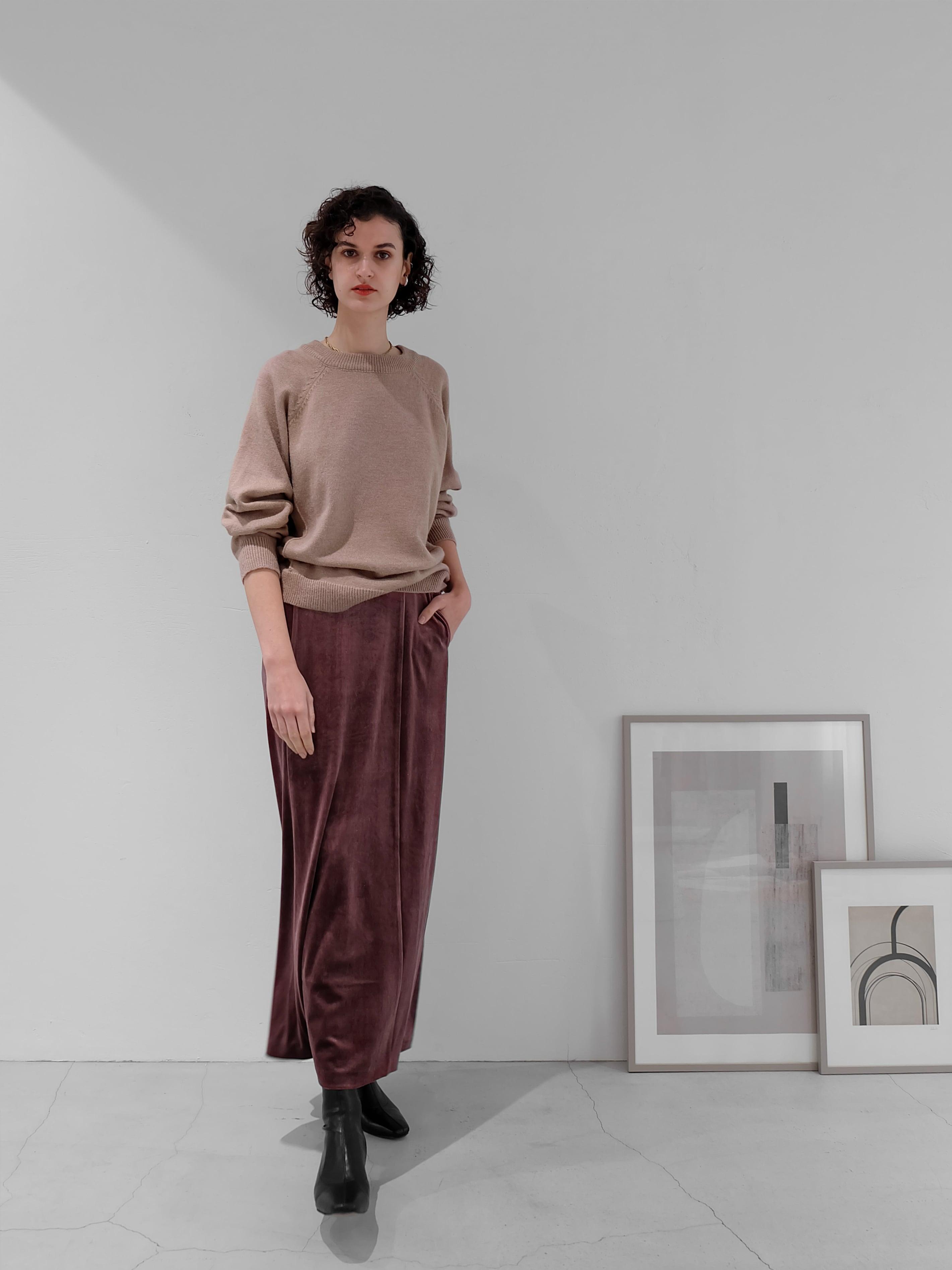 velor long skirt(berry)