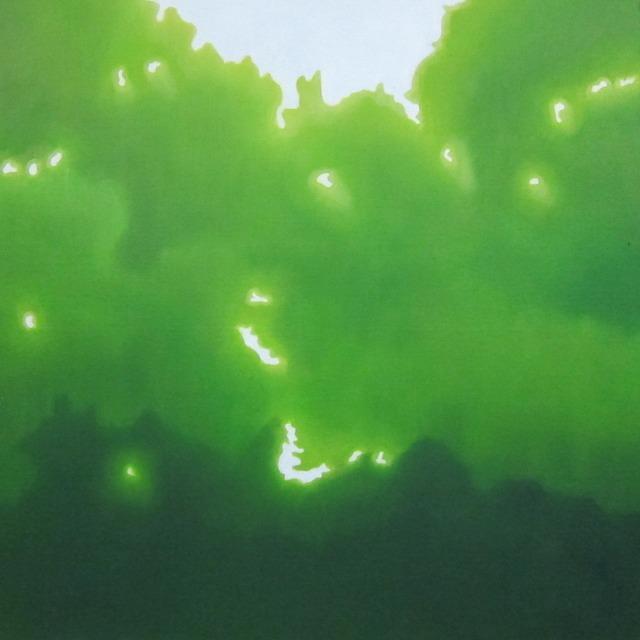 絵画 絵 ピクチャー 縁起画 モダン シェアハウス アートパネル アート art 14cm×14cm 一人暮らし 送料無料 インテリア 雑貨 壁掛け 置物 おしゃれ こもれび 木漏れ日 自然 風景 ロココロ 画家 : 馬見塚喜康 作品 : こもれび-Ⅶ