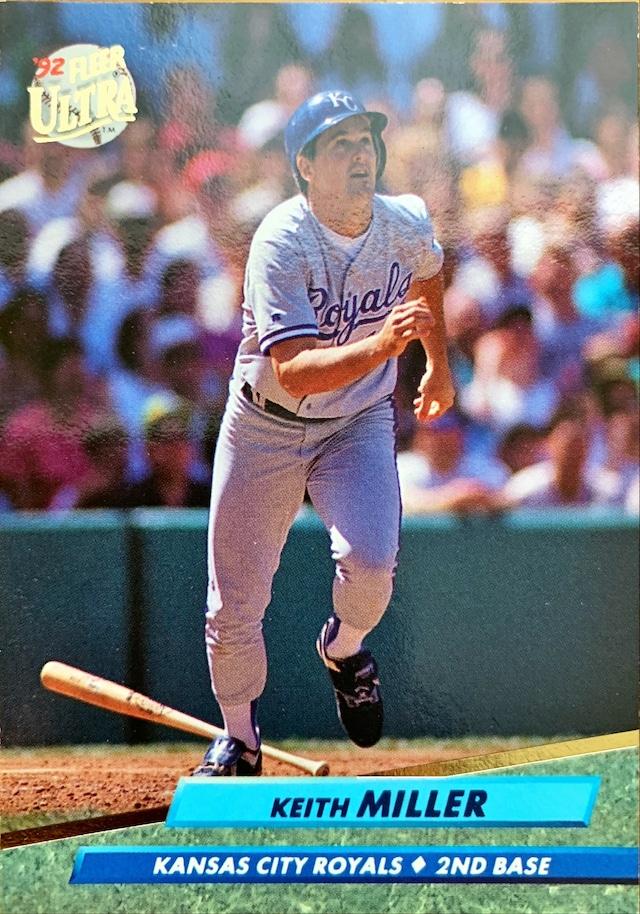 MLBカード 92FLEER Keith Miller #375 ROYALS