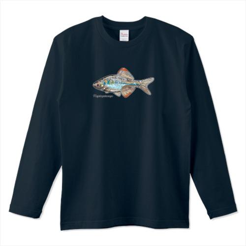 カゼトゲタナゴデザイン / 5.6オンスロングTシャツ (Printstar)