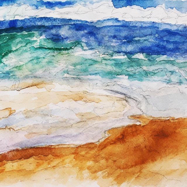 絵画 インテリア アートパネル 雑貨 壁掛け 置物 おしゃれ 風景画 アブストラクトアート 光 海 ロココロ 画家 : YUTA SASAKI 作品 : 光の海