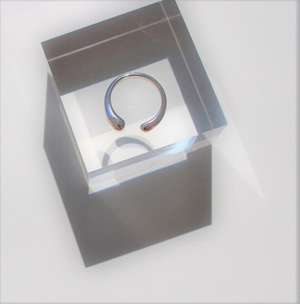 Vo.01【DROP】× open ring × 925silver × free
