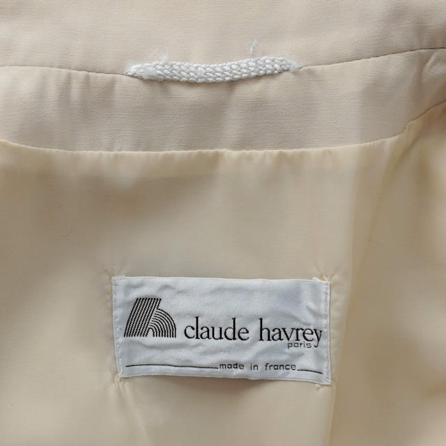 "【MADE IN FRANCE】CLAUDE HARVEY PARIS ステンカラーコート ""IMPERMEABLE BLANC CREME"""
