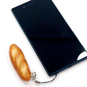 フランスパン 食品サンプル キーホルダー ストラップ