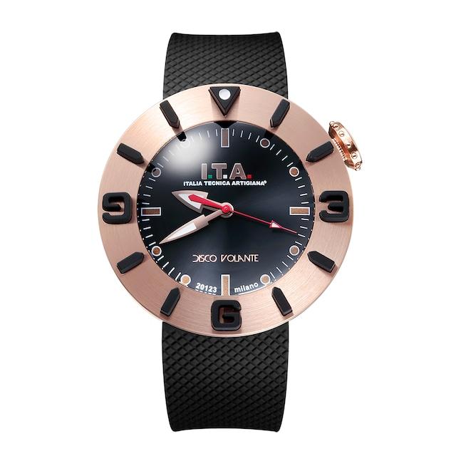【I.T.A. アイティエー】DISCO VOLANTE ディスコ・ボランテ(ブラックゴールド)/国内正規品 腕時計
