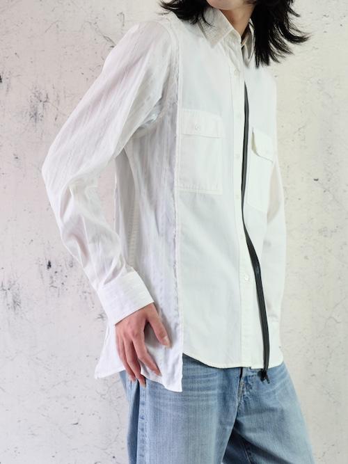 fake zip switching shirt