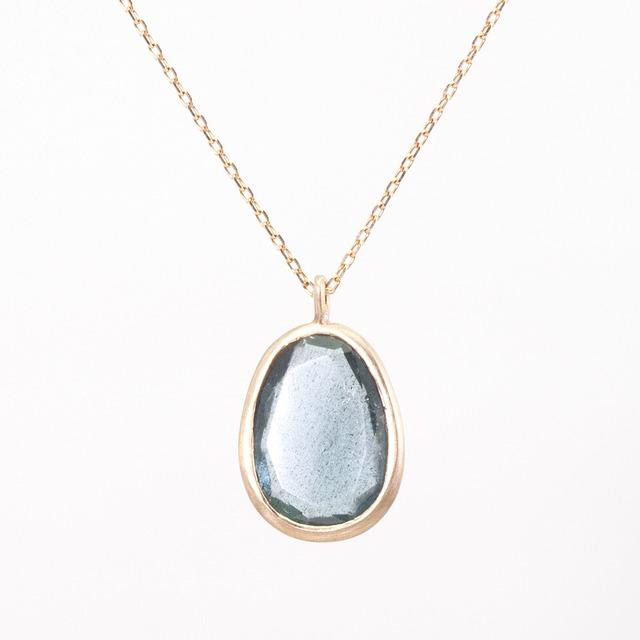 Moss  aquamarine necklace