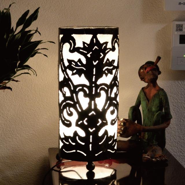 テーブルランプ 082-848 テーブルライト デスクライト フロアライト フロアスタンド アイアン 丸白 間接照明 照明 リビング 玄関 アジアンテイスト 送料無料