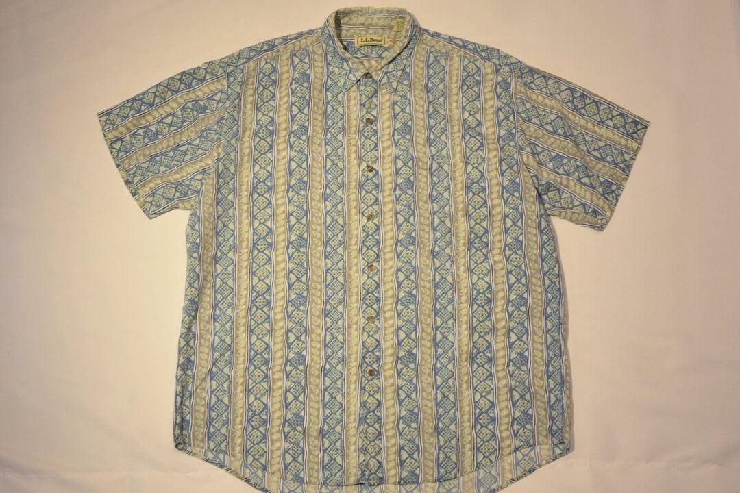 USED 90s L.L.Bean S/S shirt -Large 01045