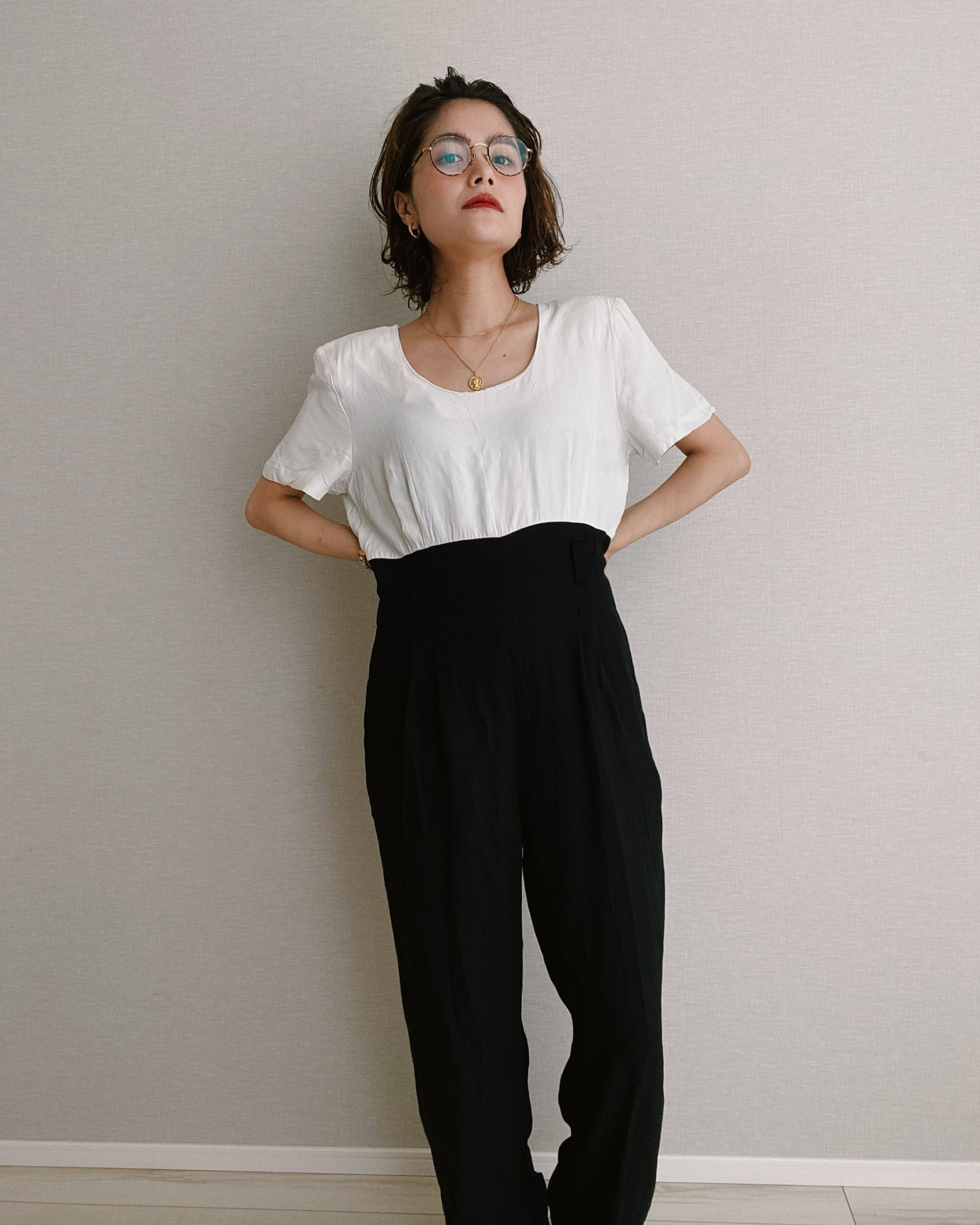 (OP006)80's Combi jump suit made in USA