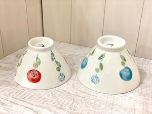 【波佐見焼】【ローザ】【お茶碗】花柄 バラ ご飯茶碗 おしゃれ かわいい