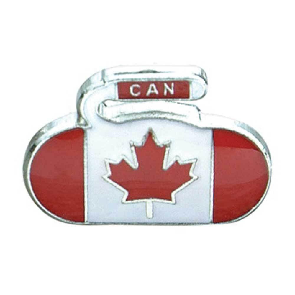 ナショナル Curling Rock フラッグピン