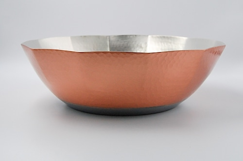 ◆受注生産◆  電磁用銅製槌目しゃぶ鍋12角29㎝