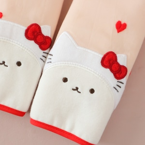【サンリコラボ】つみきキティ抱っこ紐カバー  刺繍ハート
