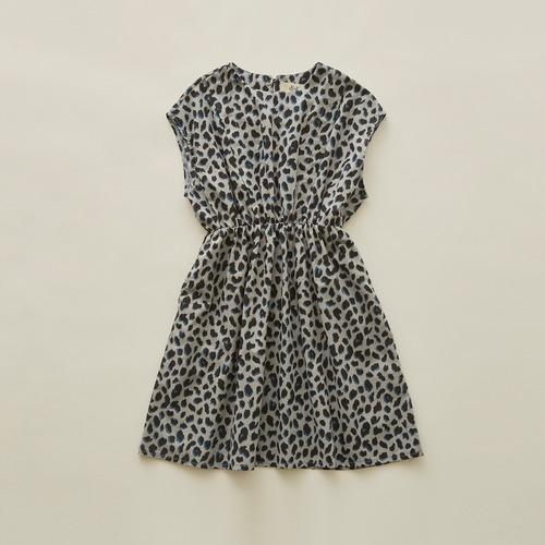 《eLfinFolk 2020SS》leopard dress / gray / 110-130cm