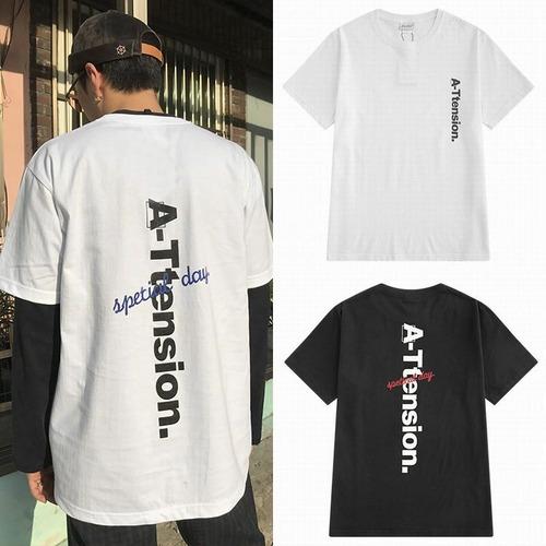 【★送料無料★】 ユニセックス Tシャツ 韓国ファッション メンズ レディース 半袖 ラウンドネック 英字 プリント オーバーサイズ ストリート系 DCT-576701186343