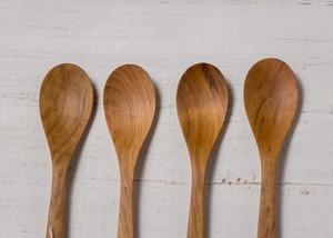 ヤマザクラ材 デザートスプーン(オイルフィニッシュ・木の匙・木製カトラリー)/Canaria Wood Works