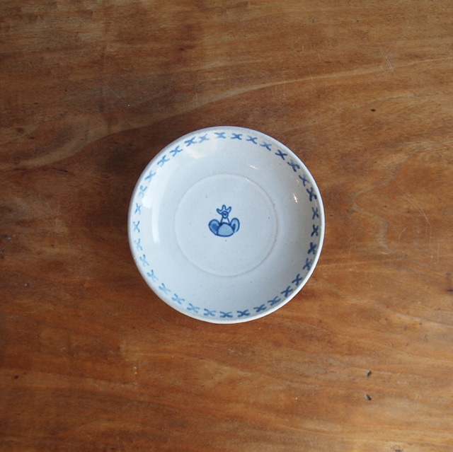 今井律湖|染付小皿 A