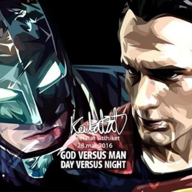 バットマン スーパーマン/ BATMAN & SUPERMAN / Lサイズ 52cm / PAPDC_0023
