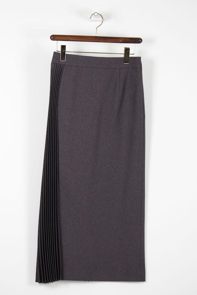 プリーツサイド使いロング丈スカートSKC5