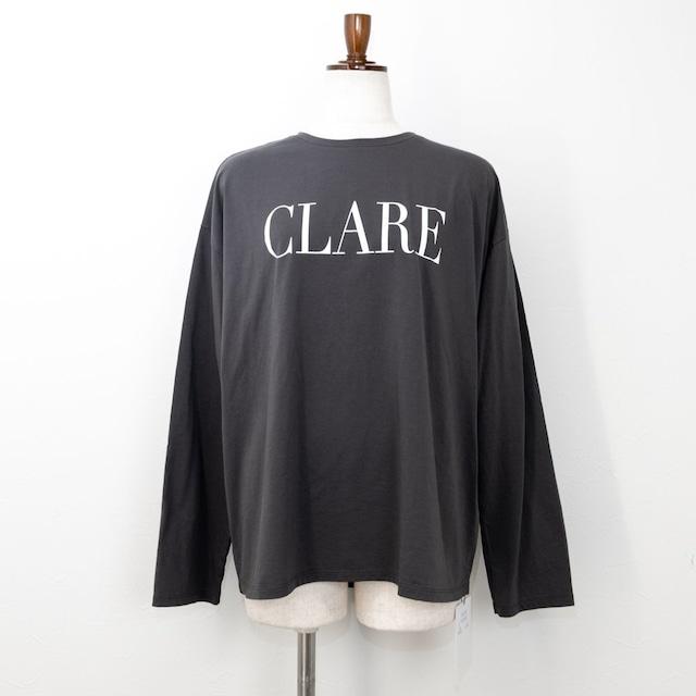 "【MICA&DEAL/マイカアンドディール】""CLARE""ロングスリーブTシャツ(チャコール)"