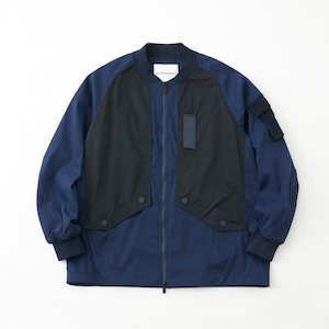 STRETCHED TWILL  JACKET - NAVY