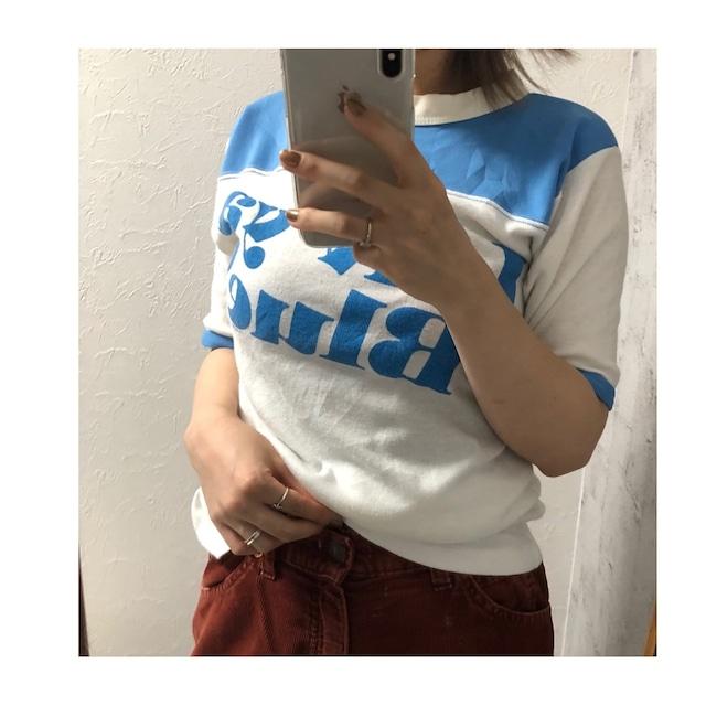 "usd print ""luv ya blue"" tee"