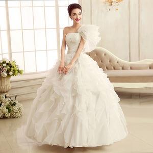 カラードレス ロングドレス 白 ホワイト ワンショルダー 結婚式二次会 発表会 披露宴 演奏会 大きいサイズ  小さいサイズ 8002