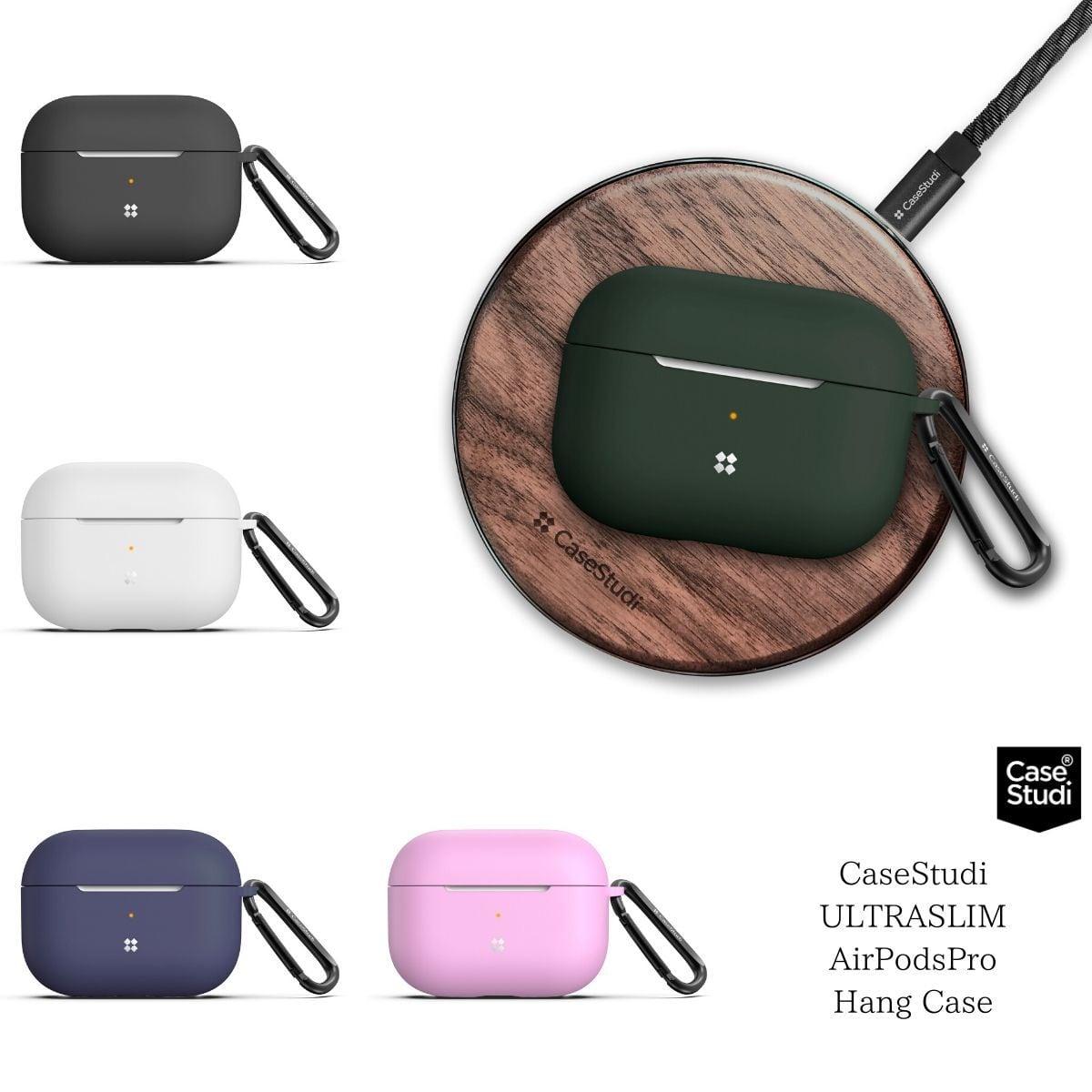 Apple AirPodsPro ケース シリコン エアーポッズプロ カバー MWP22J/A カラビナ CaseStudi ケーススタディ ワイヤレスイヤホン