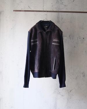 combination leather jacket